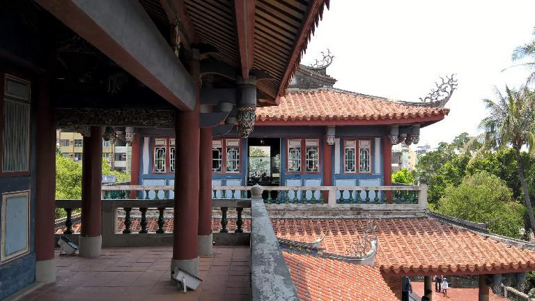 On the second floor of a building at Fort Provintia in Tainan City, Taiwan.