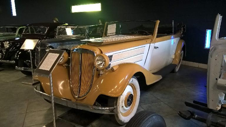 A 1937 Audi (by Auto Union) front wheel drive vehicle undergoing restoration.