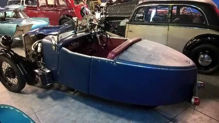 This BSA Three Wheeler was manufactured from 1930-1935 and outsold Morgan (another British three wheel car manufacturer that still exists today) during those years.