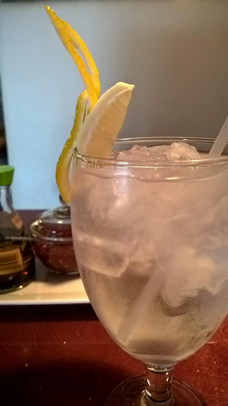 Lemon water at Thai Boat Restaurant in Brandon, Florida.
