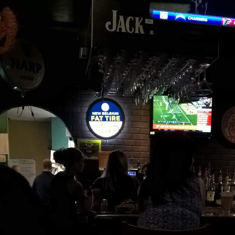 O'Brien's Irish Pub of Brandon, Florida had New Belgium Fat Tire beer from Fort Collins.