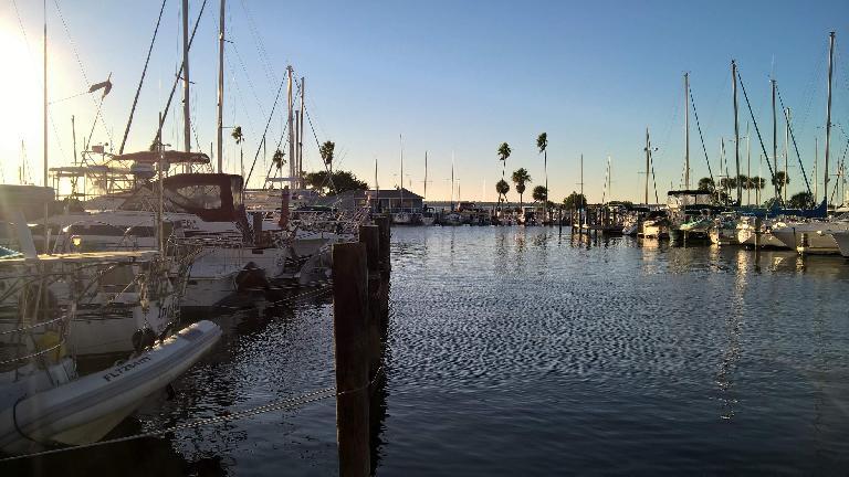 The harbor in downtown Dunedin, Florida.