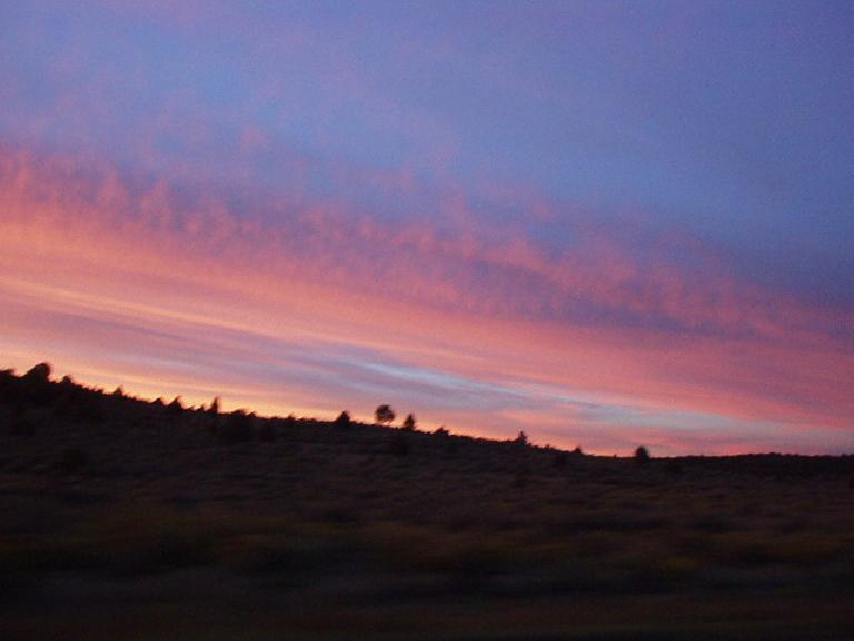 Sunset over the New Mexico scenery.