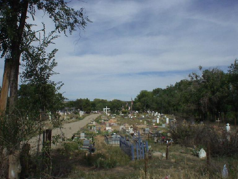 Adjacent to Taos is Taos Pueblo, an Indian reservation.  This is a gravesite there.