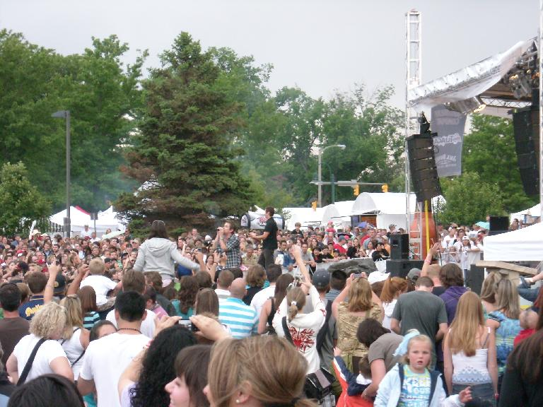 Sugar Ray performed Saturday night.  It was great!