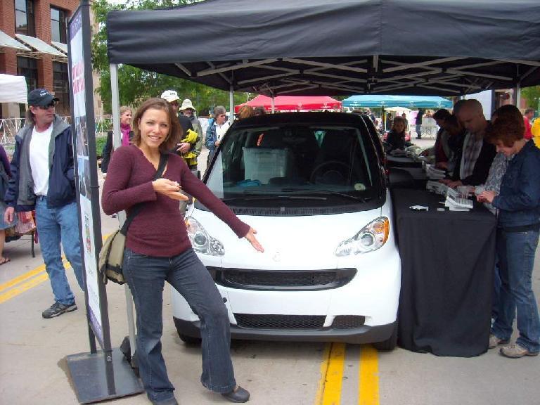 Leah presents the Smart Car.