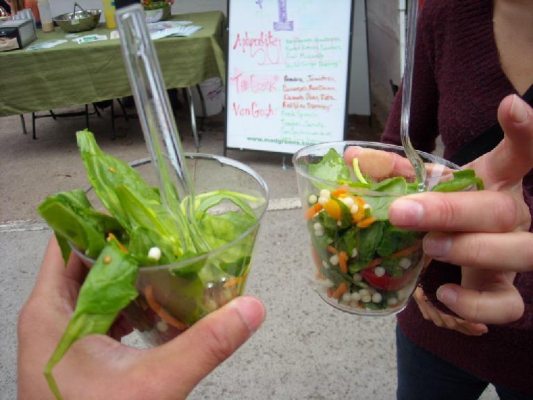 $1 salads courtesy of Mad Greens.