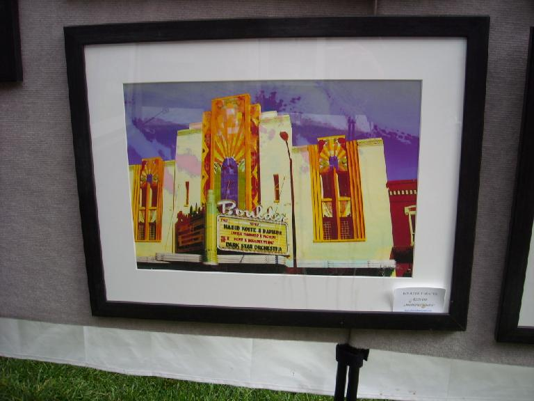 """Leah and I were actually at the Boulder Theatre depicted in this painting a couple weeks ago for a showing of """"Ride the Divide."""""""