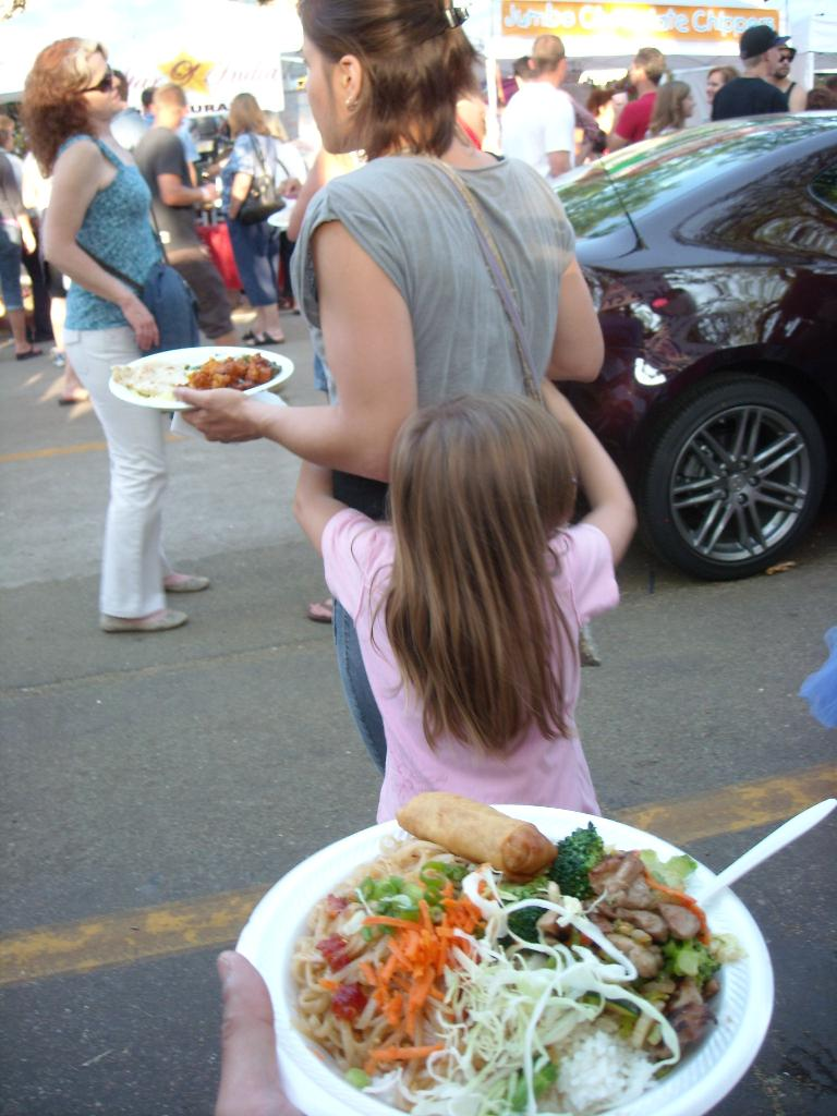 At the Taste of Fort Collins, I had a combo plate served up by Thai Pepper while Leah and Faith had Indian food.