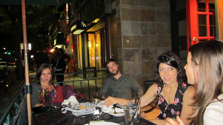 Diana, Jesse, Lauren and Katia outside the Crown Pub. (June 7, 2013)