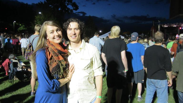 Katherine and Hector at the Churchill concert. (June 7, 2013)