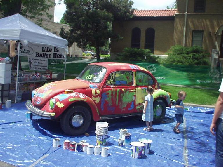 There were a few kids events, like painting this Beetle...