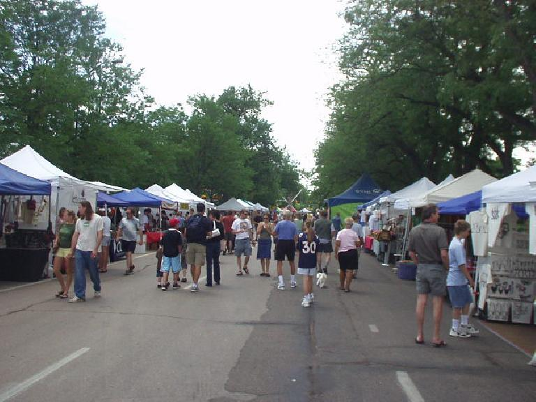 Lots of local food vendors and booths selling arts and crafts athe annual Taste of Fort Collins.