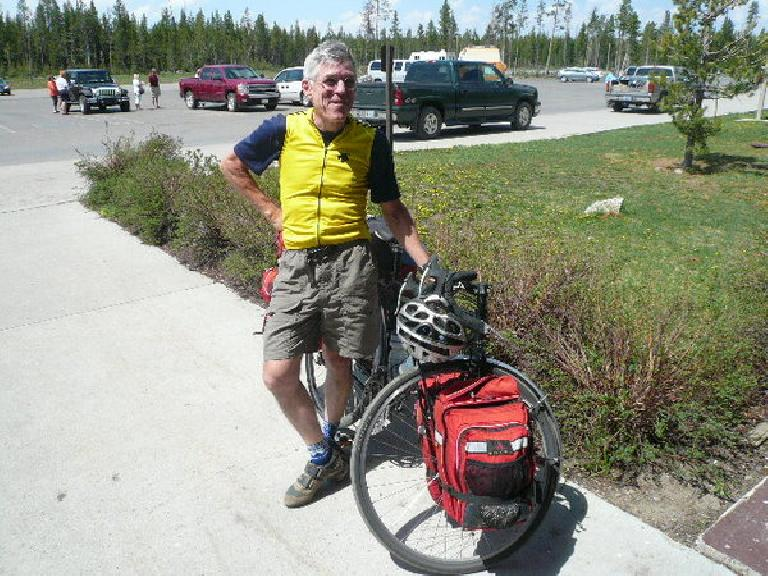 Day 11: In Flagg Ranch, I met Tom Cutler, a septenarian riding the TransAmeria cycling route from Portland to Virginia.