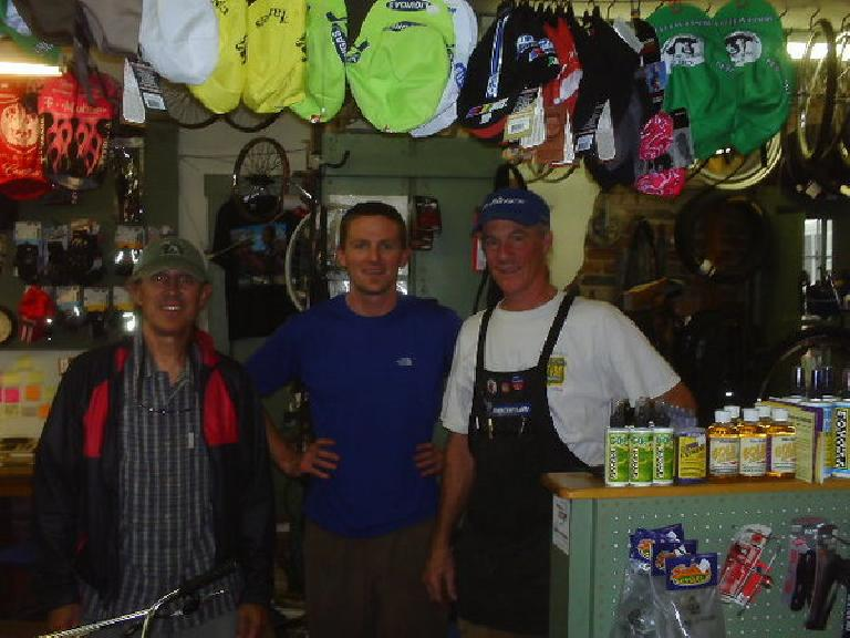 Day 27: The friendly folks at Gila Hike and Bike in Silver City, NM sold me some Slime tubes and also helped me clean up the rear shifting of the bike.
