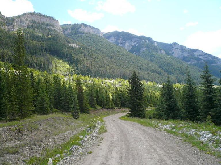 [Day 2, Mile ~120] Some of the best scenery of the entire race was through the Canadian Rockies. (June 14, 2008)