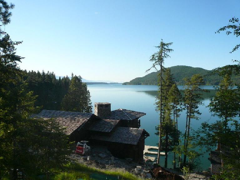 [Day 4, Mile 317] Whitefish, Montana had nice homes with views. (June 16, 2008)