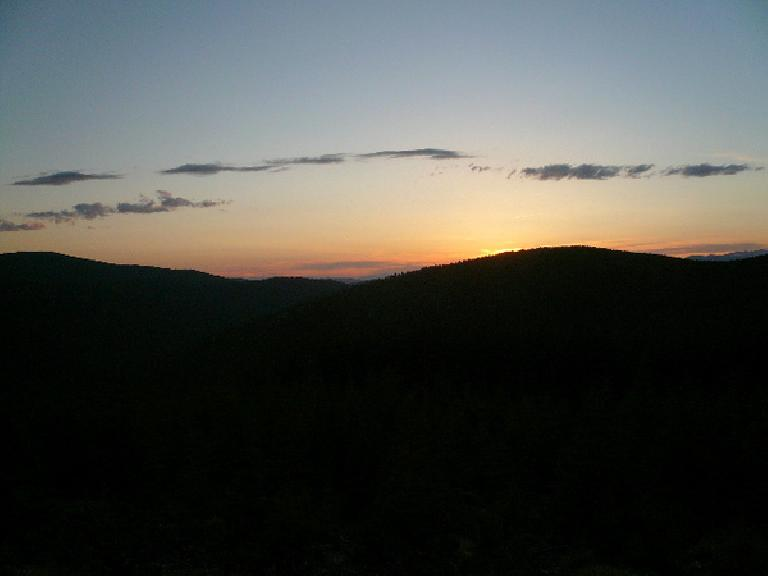 [Day 6, Mile 540] Sunset over the Helena National Forest in Montana. (June 18, 2008)