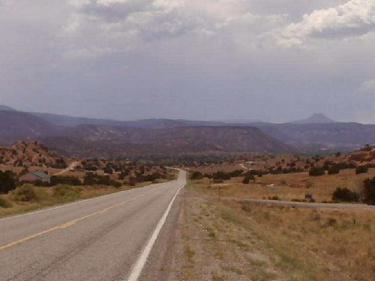 [Day 24, Mile 2187] Screaming descent towards Cuba, NM. (July 6, 2008)
