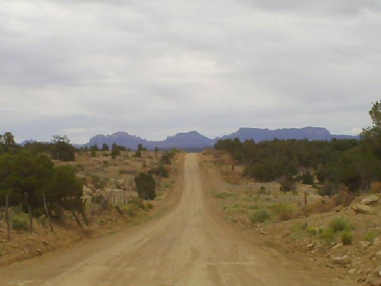 [Day 25, Mile ~2370] Nice mountain views about 15-20 miles north of Pie Town, NM. (July 7, 2008)