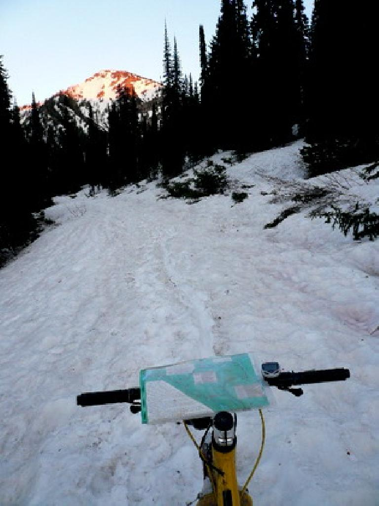 [Day 3] The first night in Montana had over two miles of snow.  Hike-a-bike time. (June 15, 2008)