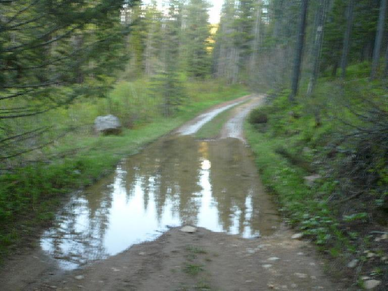 [Almost everyday] Lots of puddles to ride through.