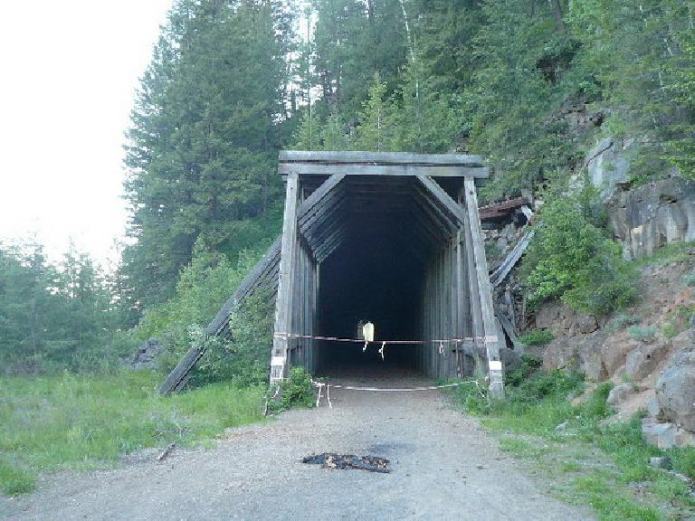 """[Day 10] This tunnel in Idaho had collapsed and I had to hike around it.  That was """"interesting."""" (June 22, 2008)"""