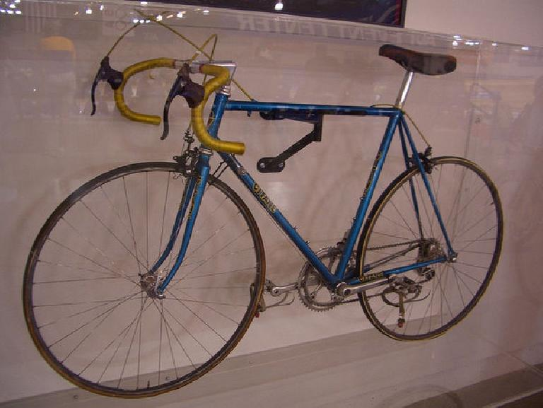 The Gitane Greg LeMond rode to victory in the 1983 World Championships. His teammate Bernard Hinault won the Tour on a somewhat similar bike the year before.