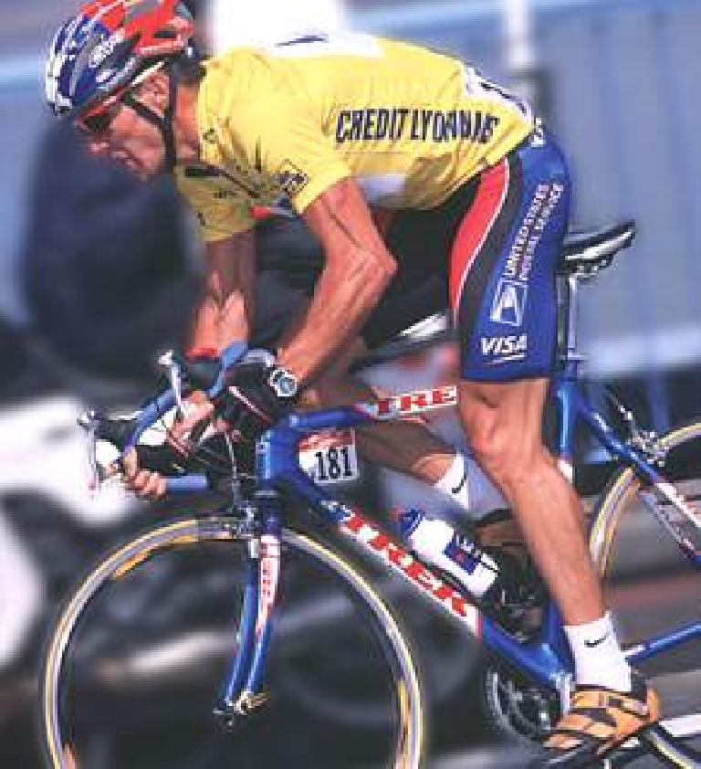 In 1999, Lance Armstrong won his first Tour de France, which was also the first for Shimano and Trek. Photo: Chain Reaction Bicycles.