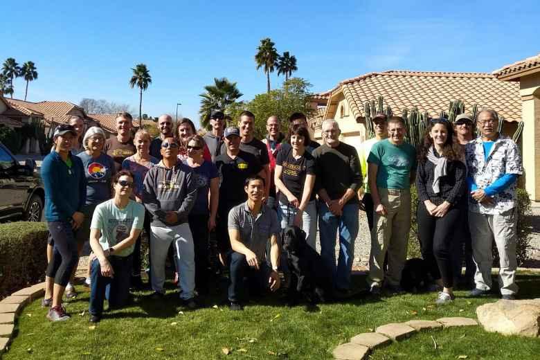 Team Sea to See's Training Camp #1 in Arizona.