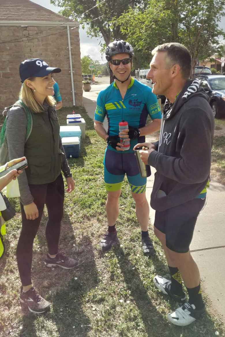 Katie Eastman from 9News met up with Team Sea to See in Pagosa Springs, Colorado. Here she is talking with Chris Scott and Dan Berlin.