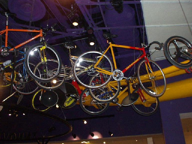 The bike exhibit on the 2nd floor has not changed much since I was here in 1998, but still very cool.  There's a few Cannondales up there...