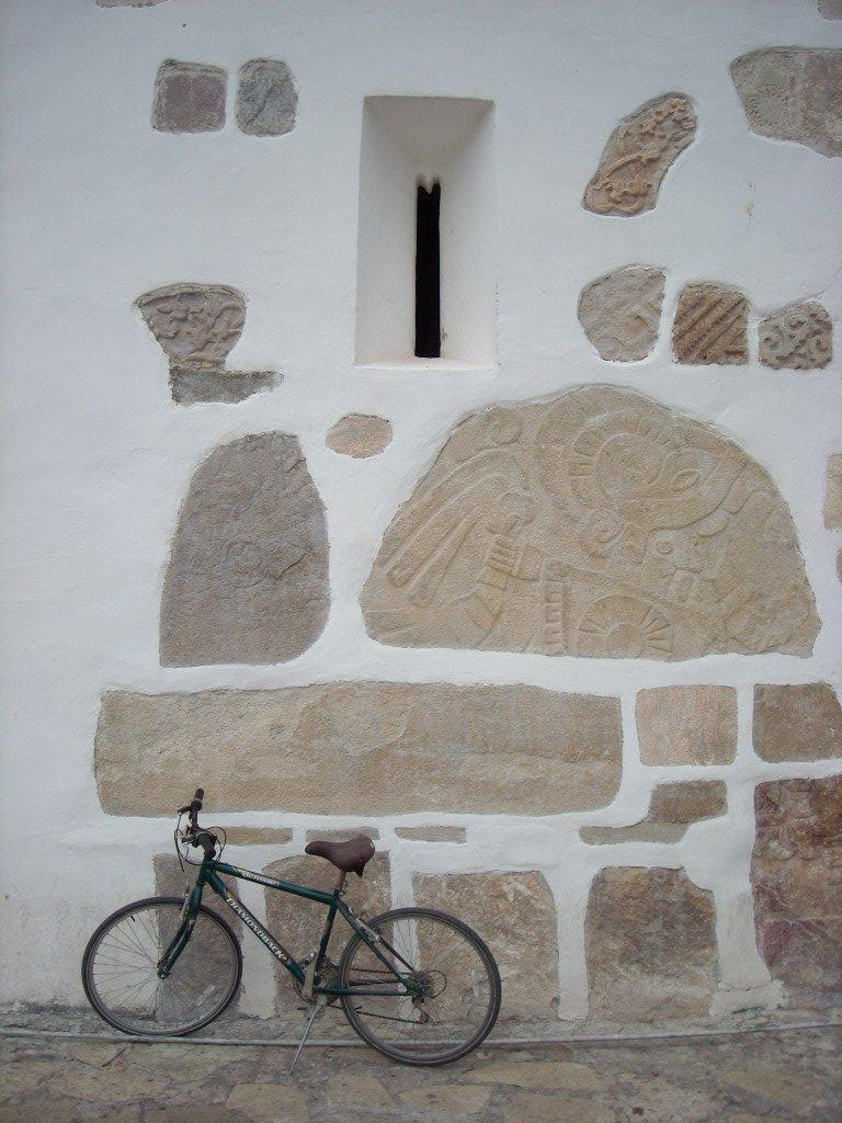 Bicycle outside the church.