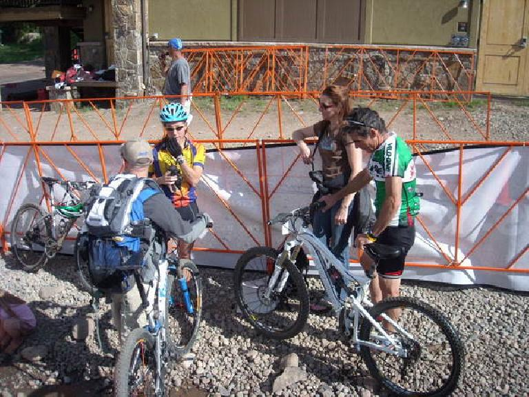 Lisa, Jeremiah, Tori and Eddie after the X-Country MTB race.