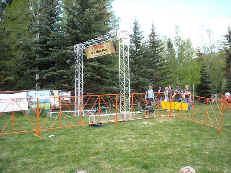 The start line of the Mud Run.