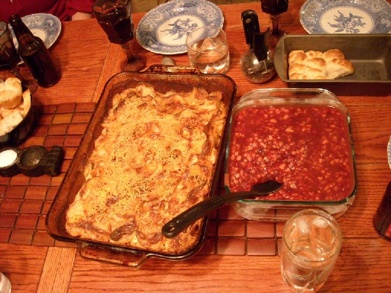 More yummy food, including a cranberry dish that Tori whipped up.