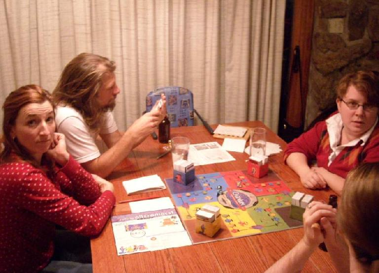After dinner, we played games for a couple hours, including the fun game of Cranium.