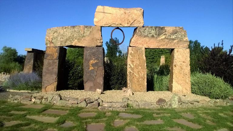 Stonehenge-like rocks at The Rock Garden.