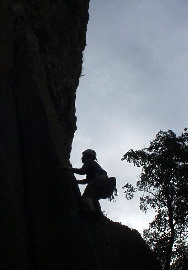 Chris leading a 5.11 column.