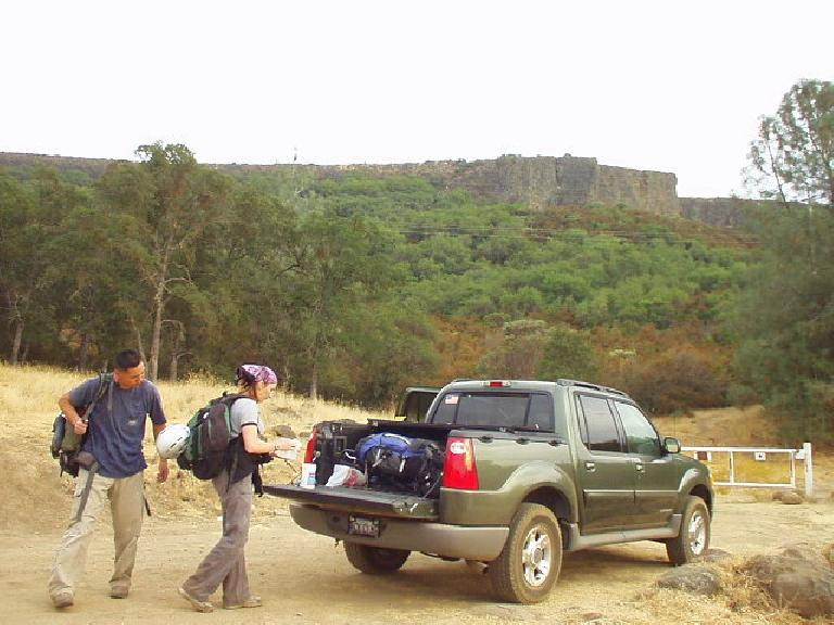 "Back at Tori's ""SUCK"" (Explorer SUV/truck).  We agreed it was a fun and challenging day!"