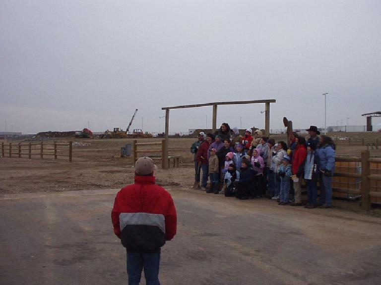 This shows where the community center will be built.