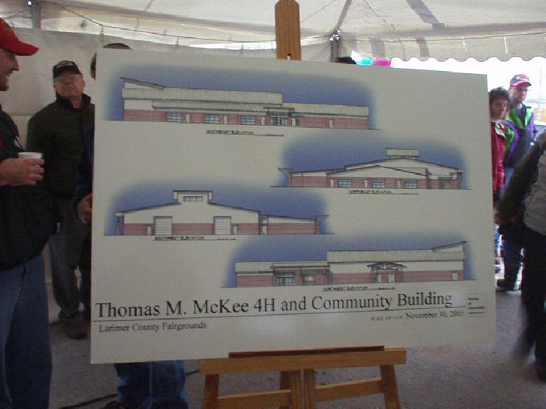 An artist's depiction of the new community center.