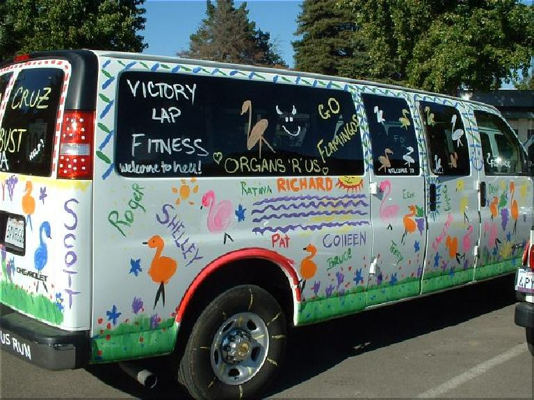 And look at the Flamingo Van! Photo: Tom Erceg. (October 12, 2003)