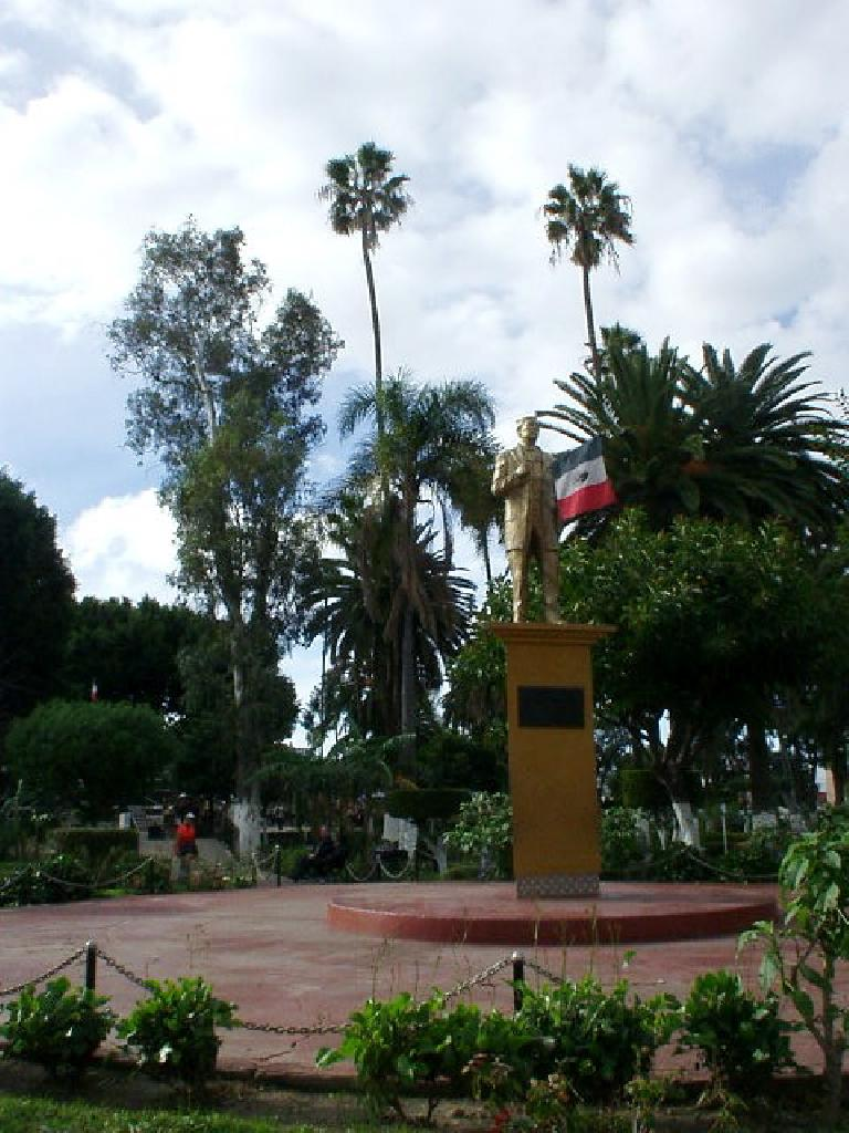 There was this park in the middle of the Tijuana, which was probably the nicest part I saw.  There were even a few merry-go-rounds outside of it (not shown in this picture).