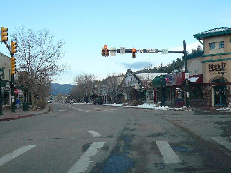 Downtown Estes Park has a lot of character.