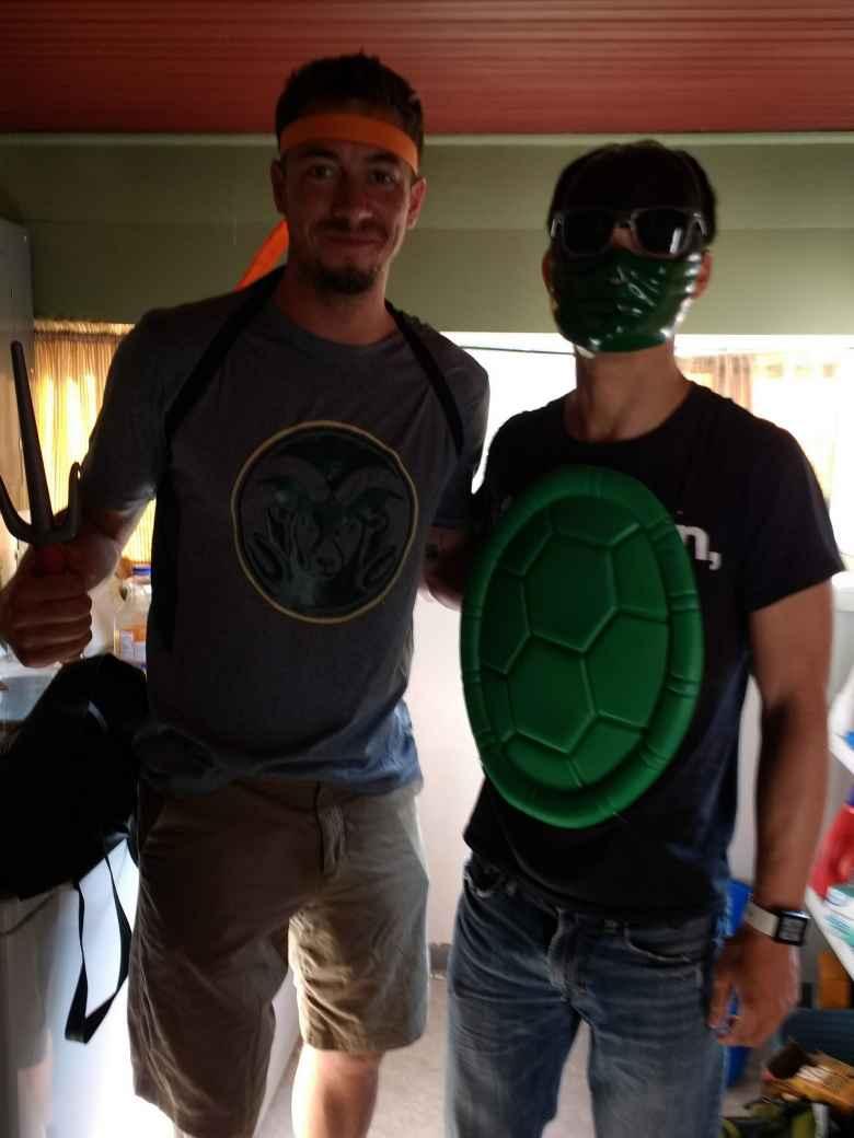 Brian and I were both Mutant Ninja Turtles.