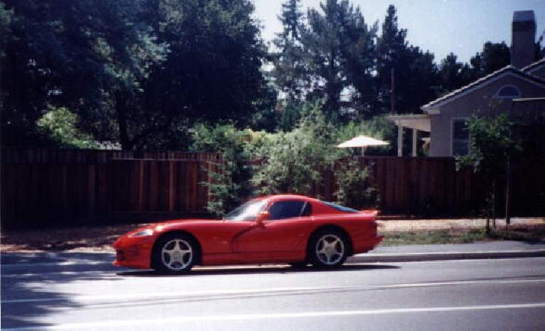 red 1997 Dodge Viper coupe