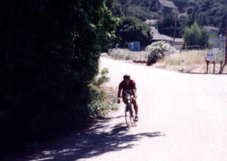 David Hung descending Jefferson Rd., 1998 Tour du Jour