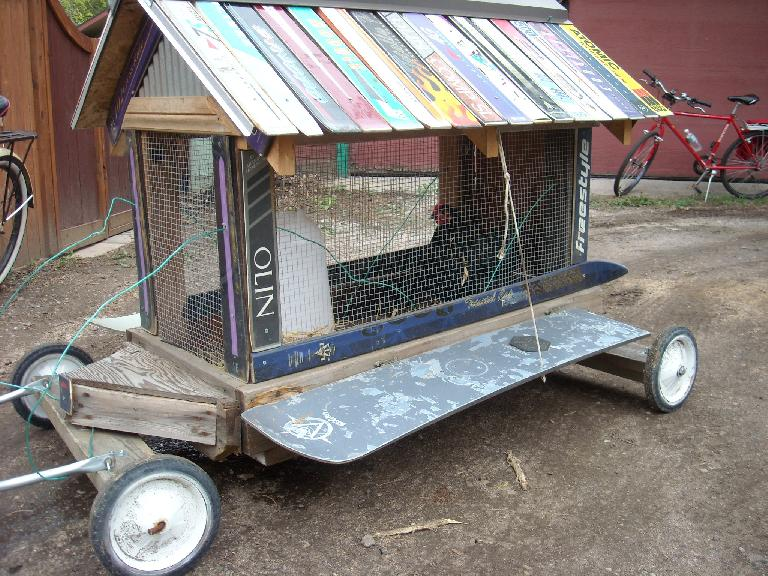 A mobile chicken coop!