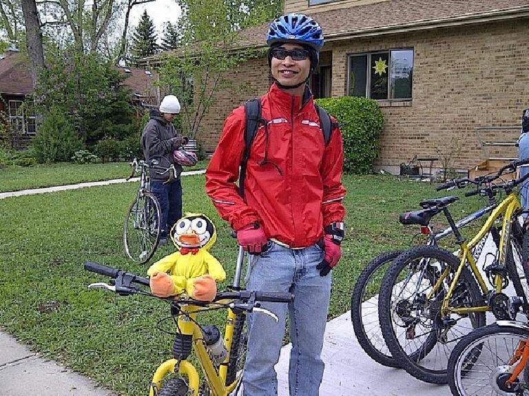 Felix Wong with Felix. Photo: Tori.